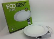 Model BULAT Eco best prime 12w cahaya putih LED Panel Light downlight