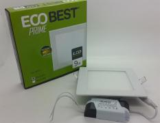 Model KOTAK Eco best prime 9w cahaya putih LED Panel Light downlight