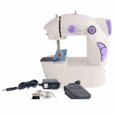 Modernlifeshop Mini Electric Portable Adaptor Pedal Sewing Machine Mesin Jahit Kecil Listrik Otomatis