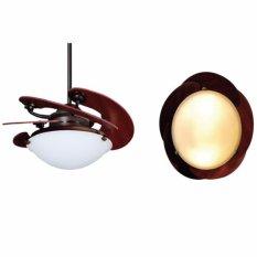 MT EDMA 46IN Sole Ceiling Fan [Kipas Angin Plafon] Dengan Remote Control - BN Malte Mahogany