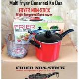 Jual Multi Fryer Non Stick 18 Cm Whit Tempered Glass Cover Maspion Online