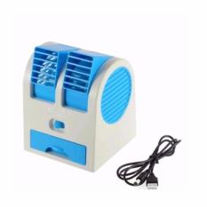 Neo Ac Duduk Double Mini Fan Portable Blower Kipas Usb