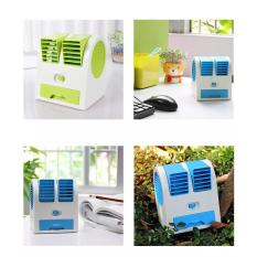 Neo Ac Duduk Double Mini Fan Portable Blower Kipas Usb Shopputri