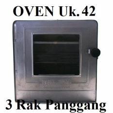 TEBE - Oven Tangkring Bima Uk. 42 Susun 3 Oven Kompor Gas Anti Karat- Silver