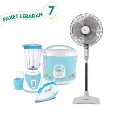 Diskon Paket Hemat Lebaran Cosmos Stand Fan16 Sn Ony Rice Cooker Crj6302 Setrika Cis438 Blender Cb190 Cosmos