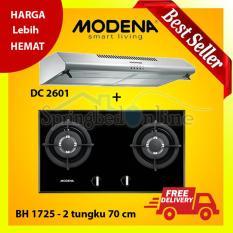 Paket Kompor Tanam Modena BH 1725 dan Cooker Hood Stainless Domo DC 2601 Harga Pabrik