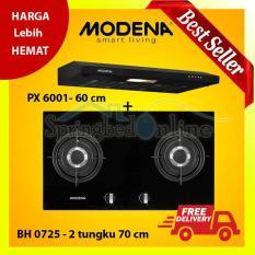 Paket Modena Kompor Tanam BH 0725 dan Cooker hood slim PX 6001 Harga Pabrik