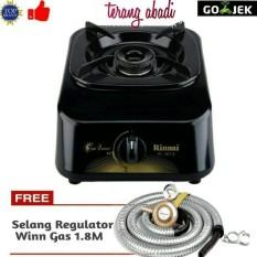 Paket Rinnai RI-301S Kompor Gas 1 Tungku + Selang Regulator Caisar