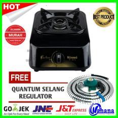 Paket Rinnai RI-301S Kompor Gas 1 Tungku + Selang Regulator Quantum