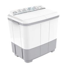 Harga Panasonic Mesin Cuci Na W85Bbz1H Twin Tub Washing Machine Putih Abu Abu Kapasitas 8 Kg Seken