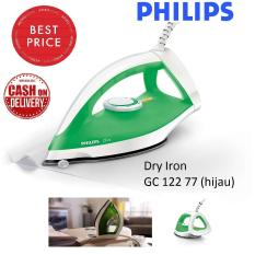 Phillips Dry Ironing 350 W Setrikaan Iron Listrik Anti Lengket Hijau Gosokan Setrika Baju