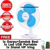 Beli Pisces Kipas Angin Meja 16 Inch Desk Fan Nt1601Df Gratis Iring Stand Sendok Garpu Led Portable Di Dki Jakarta