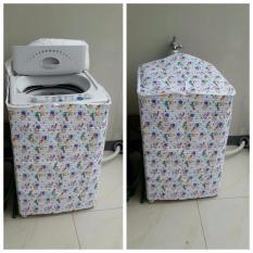 Pitaldo Sarung Mesin Cuci Bukaan Atas Motif Bunga Tahan Air