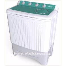 Polytron - Mesin Cuci 2 Tabung 7kg PWM 7058 - Green