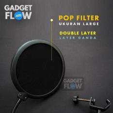 Pop Filter Layer Ganda Ukuran Large 9 Inch Mic Microphone - D3765B