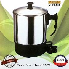 Teko Pemanas Air 7STAR Mug Listrik 13 Cm / Panci Listrik Stainless Steel 13 Cm