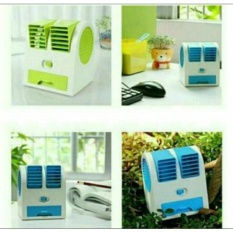 Promo Paling Laris...ac Duduk Double Mini Fan Portable Blower Kipas Usb By Hotlesmuylgh.