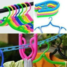Promo Tahun Ini Hanger Baju Lipat Jemuran Portable Laundry Gantungan Jemur Pakaian Top