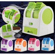 PROMO...Mini AC Portable Duduk Twin Double Fan Parfum Terbaru