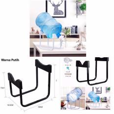 Rak dudukan Penyangga Galon Air minum / Gallon Water Bottle Dispenser Stand Galon Stainless Steel Rack - White