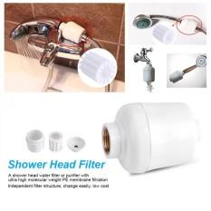 Yang Dapat Dilepas Shower Kamar Mandi Kepala In-Line Filter Keran Pembersih Softener Air Bersih