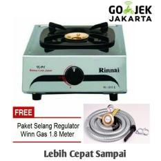 Rinnai Kompor Gas 1 Tungku - 511E stainless steel +selang gas SNI free