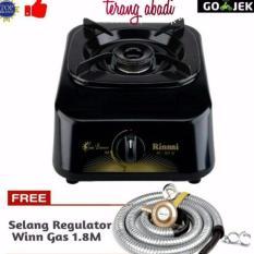 Rinnai Kompor Gas 1 Tungku RI301S+selang regulator winn gas
