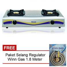 Rinnai Kompor Gas RI 522 E + Free Selang Regulator Win Gas