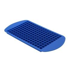 Roman Holiday 160 Grids DIY Kecil Cetakan Es Batu Square Shape Silicone Ice Tray (Biru)-Intl