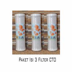 Ronaco Filter air CTO Activated Carbon Block Carbon Cartridge Isi 3