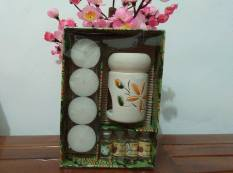 Room Decor Paket Aromaterapy 4 Minyak Aroma Terapi/Essensial Oil + 4 Lilin/Burner