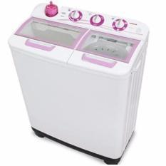 Sanken - Mesin Cuci 2 Tabung 9Kg TW 1123GX - Putih Pink