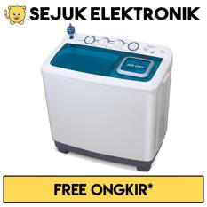 Sanken TW-1555 Mesin cuci 2 tabung 14 kg-Putih (Khusus Jadetabek)