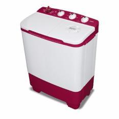 Sanken TW-8650 MR Mesin Cuci 2 Tabung 7Kg - Merah (KHUSUS JADETABEK)
