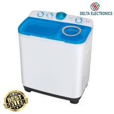 Sanken TW 9880 Mesin Cuci 2 Tabung - Putih-Biru