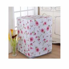 Sarung Cover Mesin Cuci Buka Depan Type B Laundry Motif Bunga Flower Rumah Tangga Kebersihan Higienis Clean