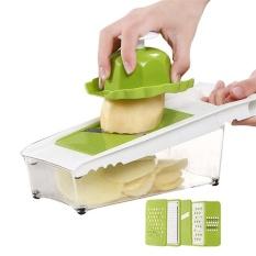 SDP Dapur Good Grips Lengkap Grate & Slice Set 5 In 1 Bawang Chopper, Sayuran Slicer, Buah dan Keju Cutter Wadah dengan Tutup Penyimpanan-Intl