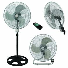Sekai Metal Stand Fan 18 Inch Osilasi 3 In 1 Remote HSN 1837 Silver