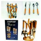 Review Pada Sendok Set Stainless Caspian 24Pcs Tangkai Model Kayu Murah