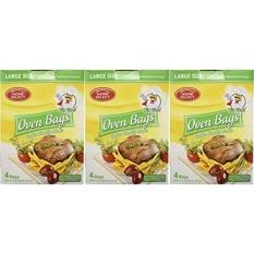 Set dari 12 Big Chef Ukuran Oven Bags! untuk Daging, Ikan, dan Sayuran Hingga 8 Kilogram! Membuat Makanan Juicer dan Enak! Tidak Ada Lagi Berantakan Pembersihan!-Intl