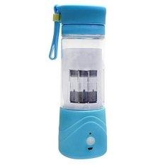 Shake n Go Blender Portable with USB Rechargeable Battery Mini Blender Juice - Biru