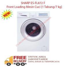 SHARP ES-FL872 Front Loading Mesin Cuci [1 Tabung/7 kg]-KHUSUS JABODETABEK