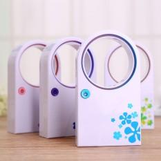 Genggam Sederhana AC Tidak Berdaun Fan Portable USB Dual-use Lantai Kantor Kecil mini Fan (fast Delivery) -Intl