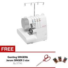 Singer 14SH754 Mesin Jahit Obras - Neci Portable Multifungsi - Extra Gunting Singer + Jarum 3 Size