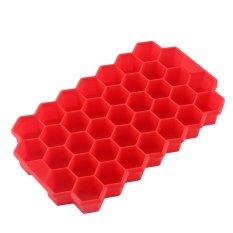 Es Batu Kecil Membeku Cetakan Baki Fleksibel Silicone 37 Berbentuk Segi Enam Cubes Dapur Alat Baru-Internasional
