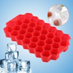Kecil Es Cube Freeze Cetakan Baki Silikon 37 Cubes Alat Dapur-Internasional