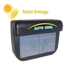 Solar Powered Car Air Ventilation System - Black
