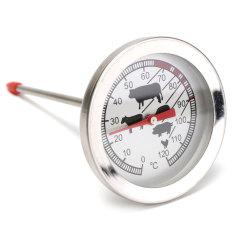Stainless Steel Suhu Termometer Makanan Daging Unggas Pemeriksaan BBQ Memasak Kompor