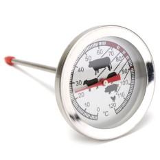 Stainless Steel Daging Unggas Suhu Makanan Thermometer Probe BBQ Kompor Masak-Intl