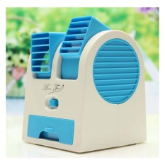 StarHome AC Duduk Mini Portable - Double Blower Mini AC - Kipas Angin Biru